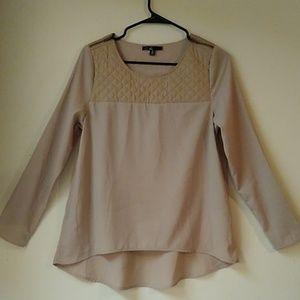 Zippered cuff blouse